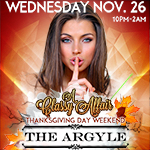 Thanksgiving-Eve Party @ Argyle!
